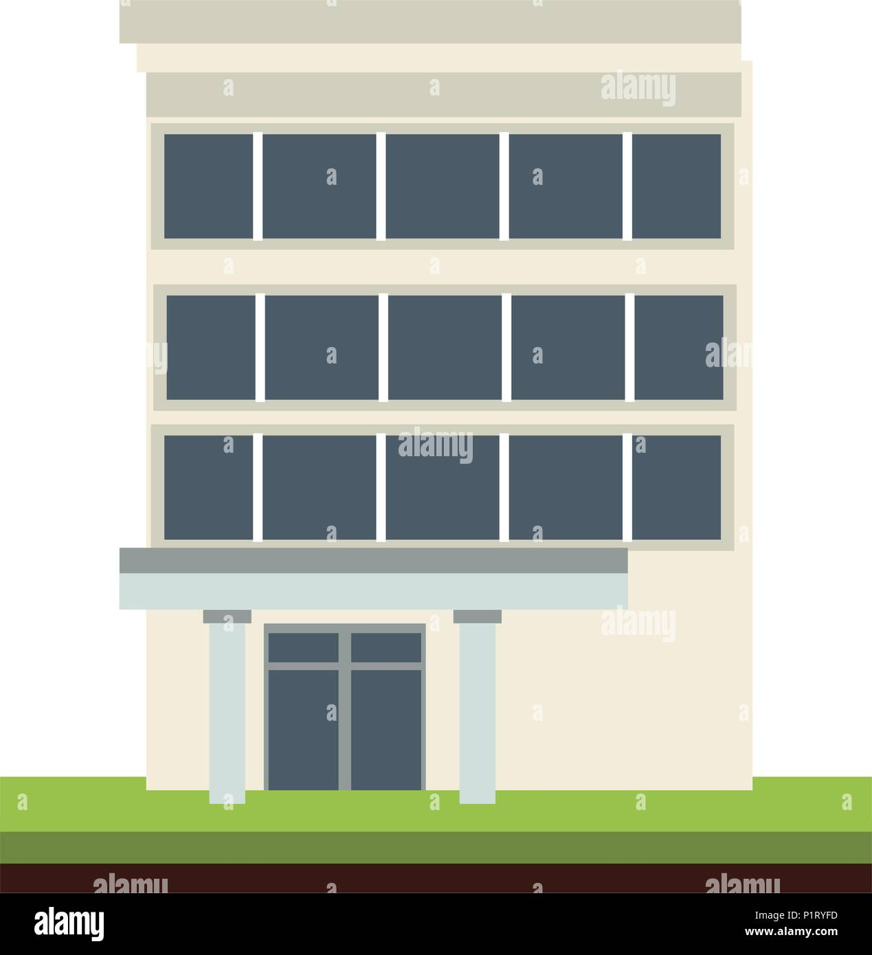 Edifice building isolated - Stock Image