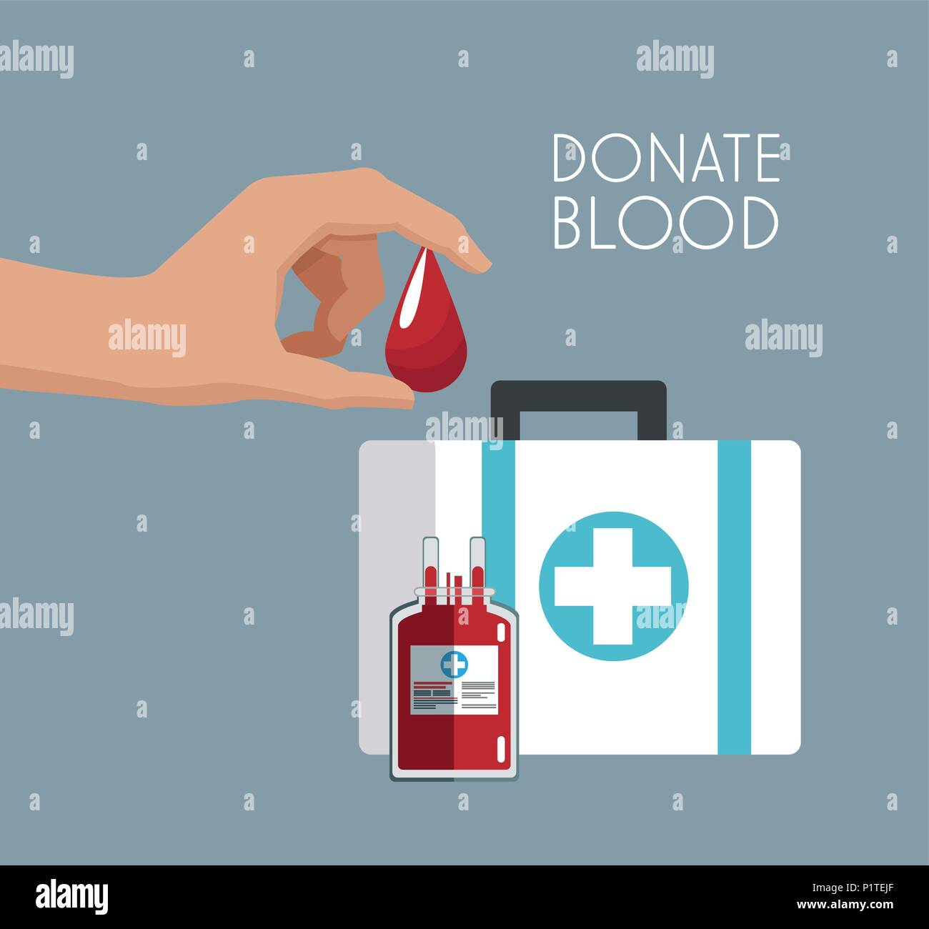 Donate blood campaign - Stock Image