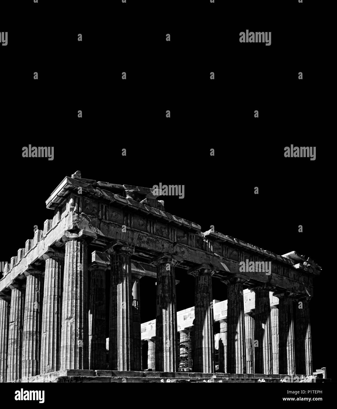 Parthenon in Acropolis, Athens Greece - Stock Image