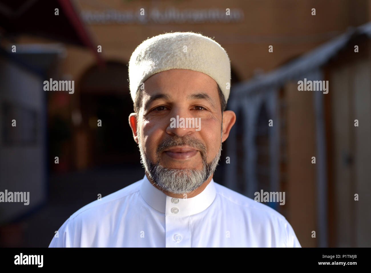 Berlin, Germany, Imam Taha Sabri heads the Dar Assalam Mosque - Stock Image