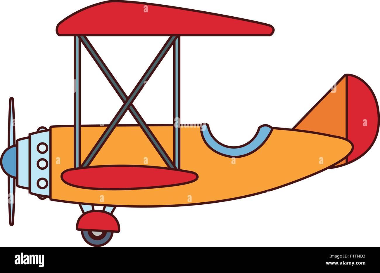 Vintage airplane cartoon Stock Vector Art & Illustration, Vector