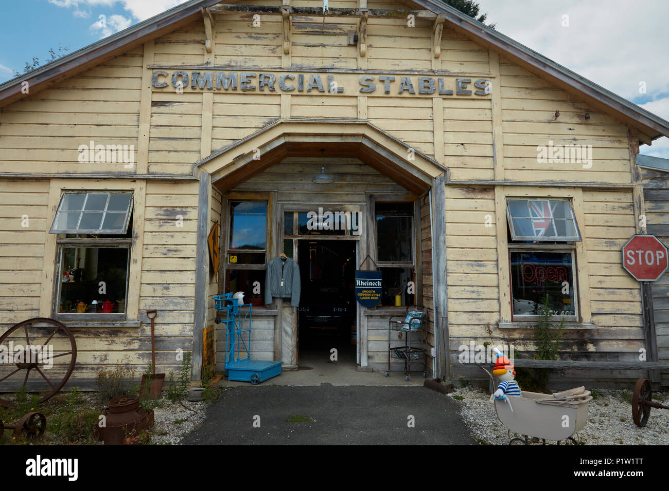Historic stables, Murchison, Tasman District, South Island, New Zealand - Stock Image