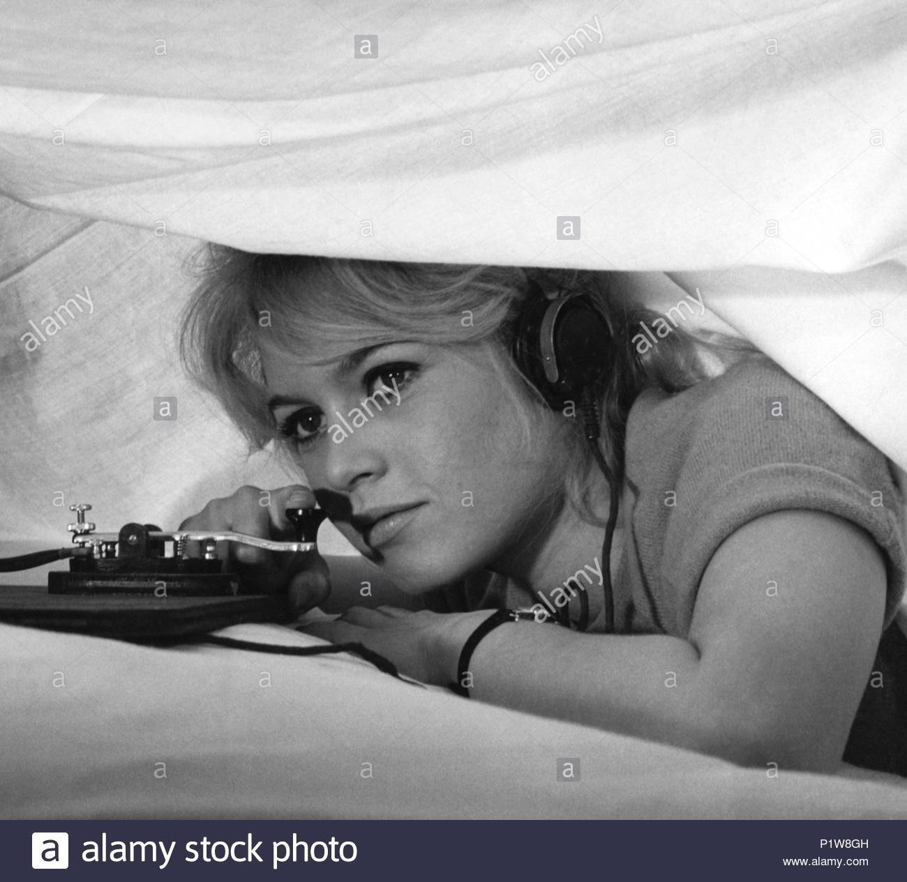 brigitte bardot film title babette goes to war stock photos