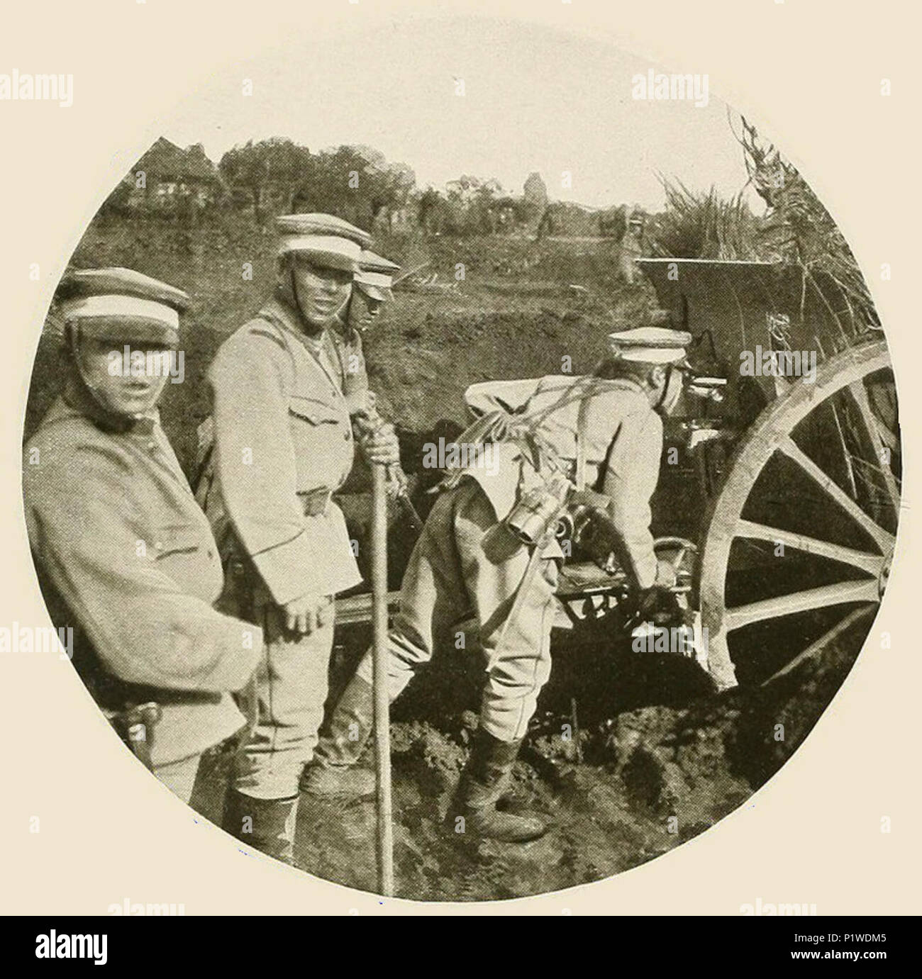 (1919) pic13 - Japanese big guns in Siberia. - Stock Image