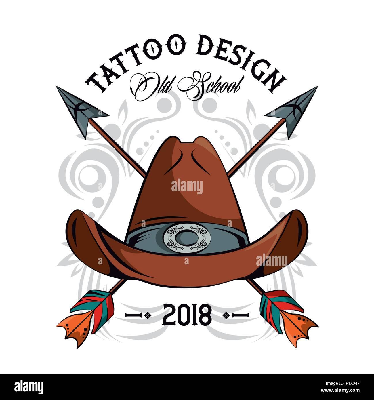 Tattoo studio design Stock Vector