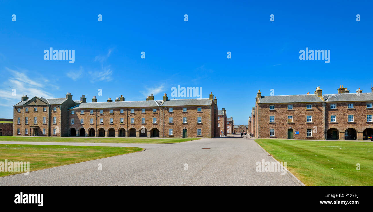 FORT GEORGE INVERNESS SCOTLAND THE MAIN BARRACK BUILDINGS - Stock Image