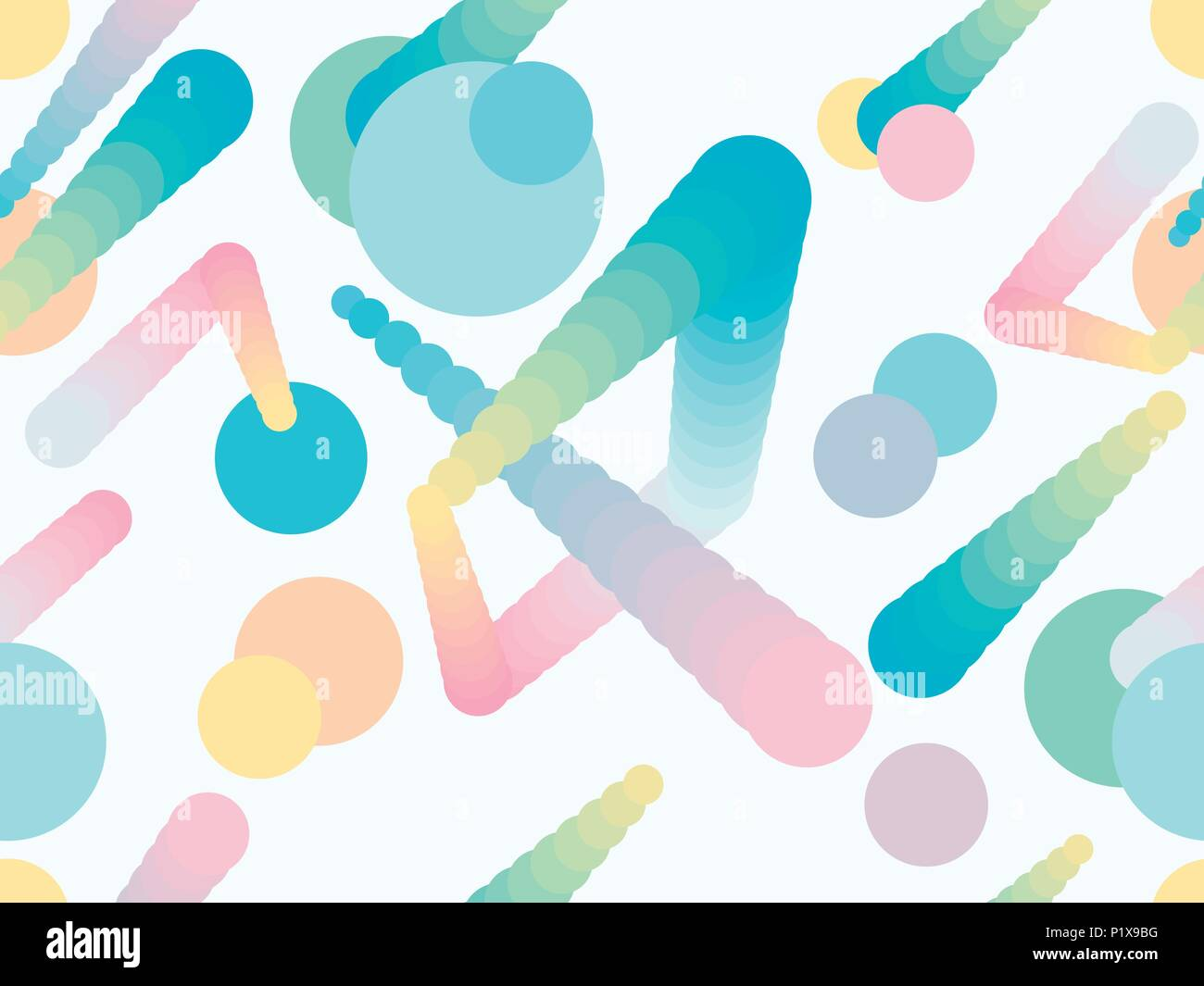 07c7be531c7a5 Liquid color shape seamless pattern. Geometric elements memphis, style of  the 80s. Modern colorful objects. Vector illustration