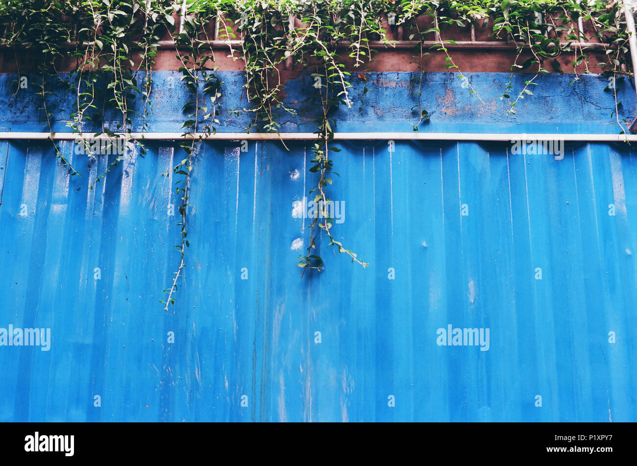 Old Metal Wall - Stock Image