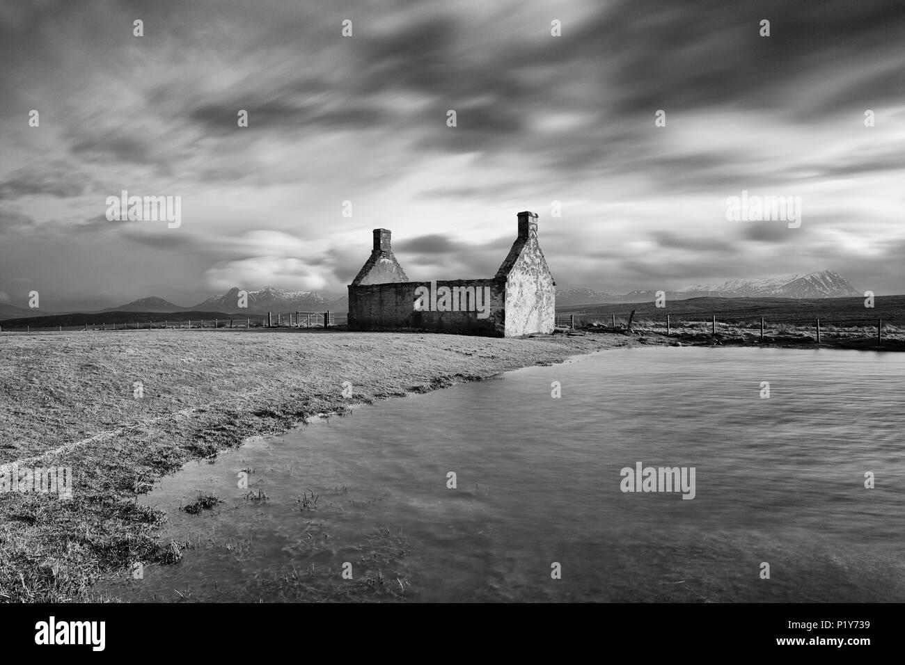 Moine cottage, Sutherland - Stock Image