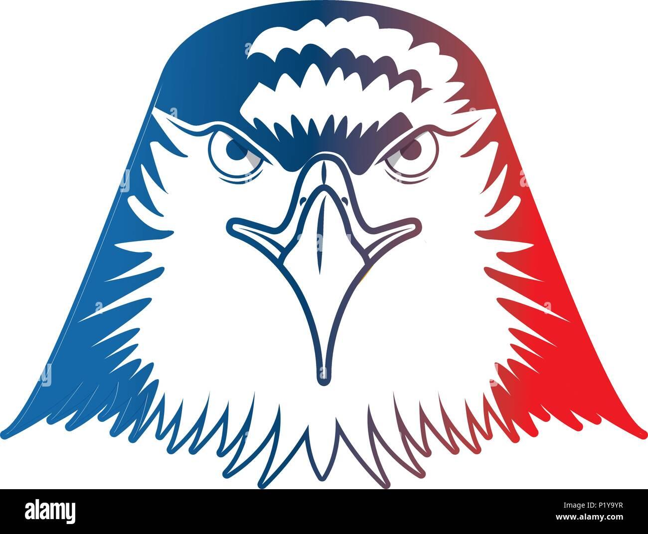 Head Bald Eagle Symbol Native American Vector Illustration Stock