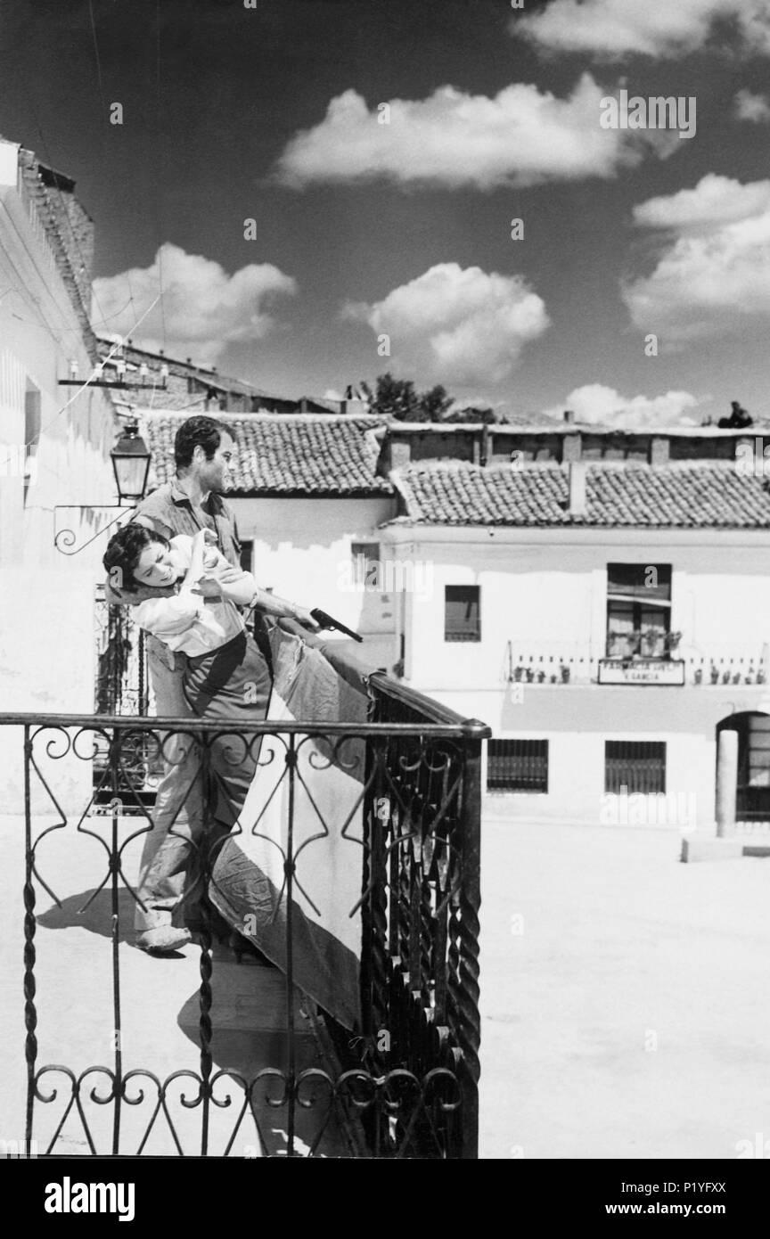 Original Film Title: LLEGARON DOS HOMBRES.  English Title: LLEGARON DOS HOMBRES.  Film Director: EUSEBIO FERNANDEZ ARDAVIN.  Year: 1959. Credit: ENRIQUE ALARCON / Album - Stock Image