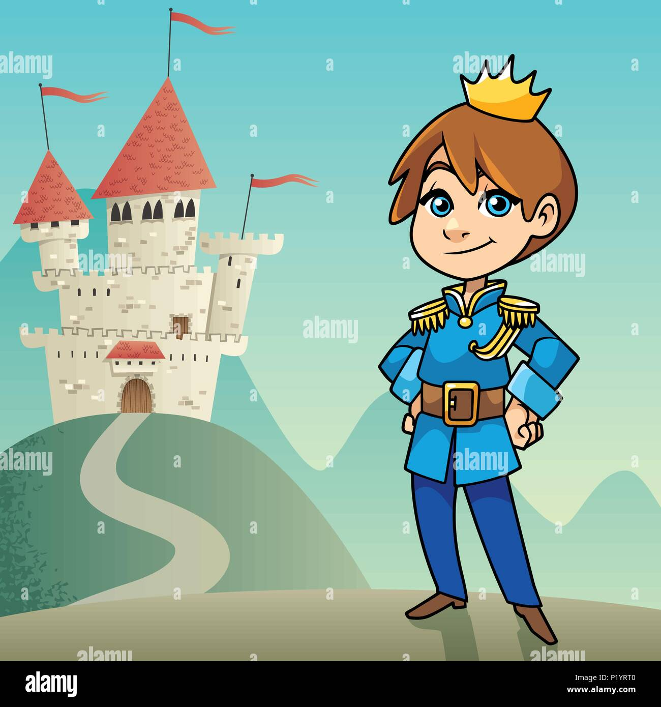 Little Prince Background Stock Vector