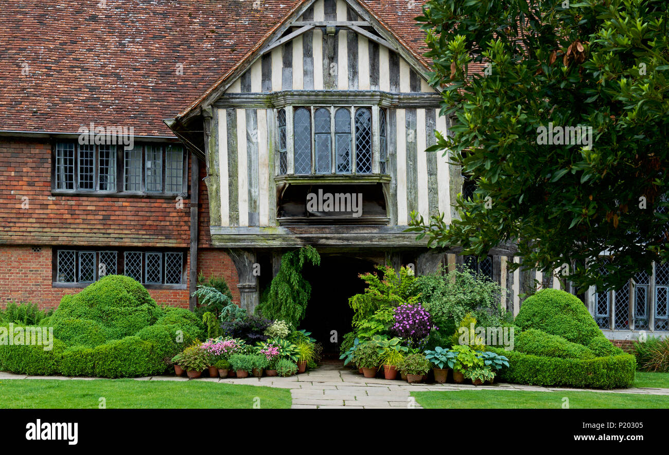 The gardens of Great Dixter, Northiam, East Sussex, England UK - Stock Image