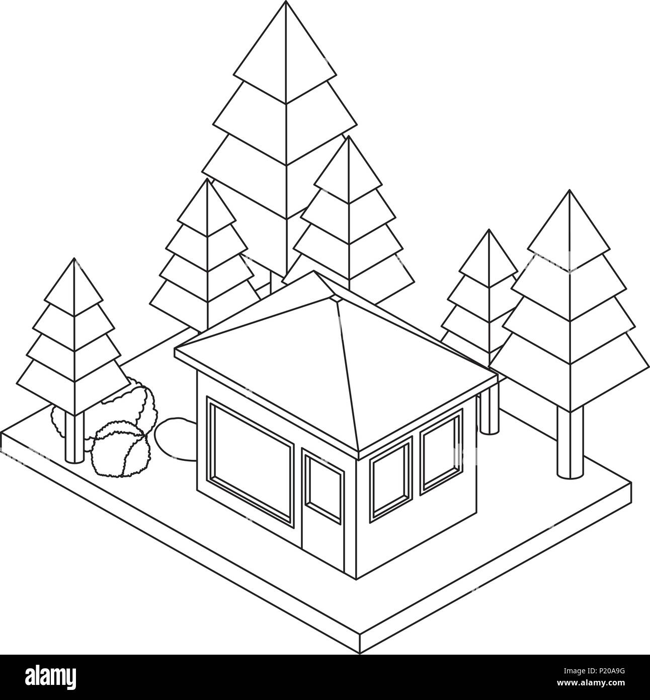 suburban house black and white stock photos images page 3 alamy 1890 Toy House exterior house with landscape isometric icon stock image