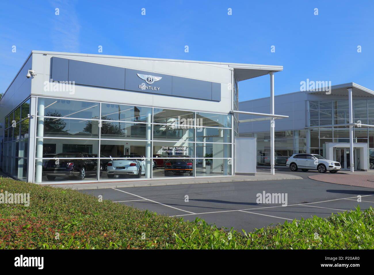 Bentley Car Dealers - Gelderd Road - Leeds - Stock Image
