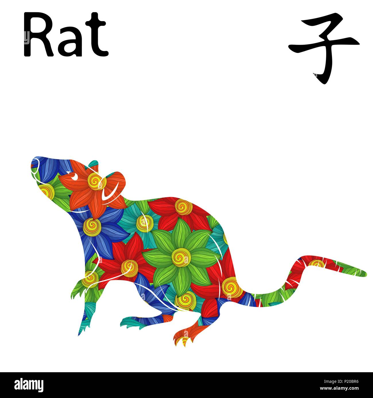 Chinese Zodiac Sign Rat Symbol Of New Year On The Eastern Calendar