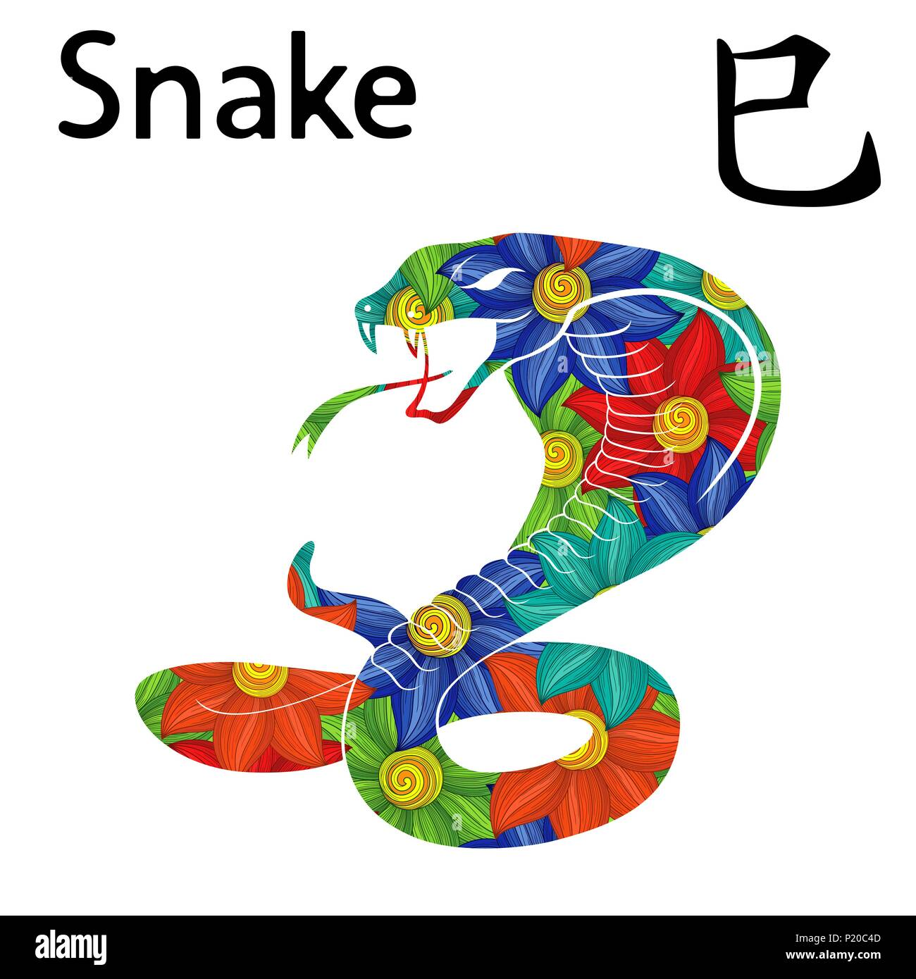 Chinese Zodiac Sign Snake Symbol Of New Year On The Eastern