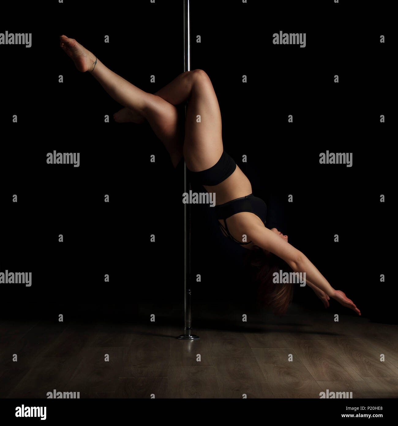 Pole dance - Stock Image