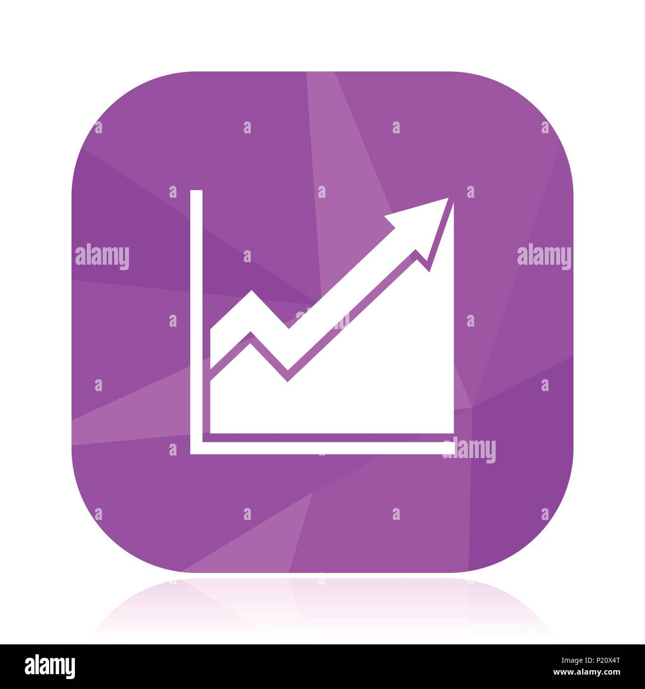 Histogram Flat Vector Icon Diagram Violet Web Button Graph