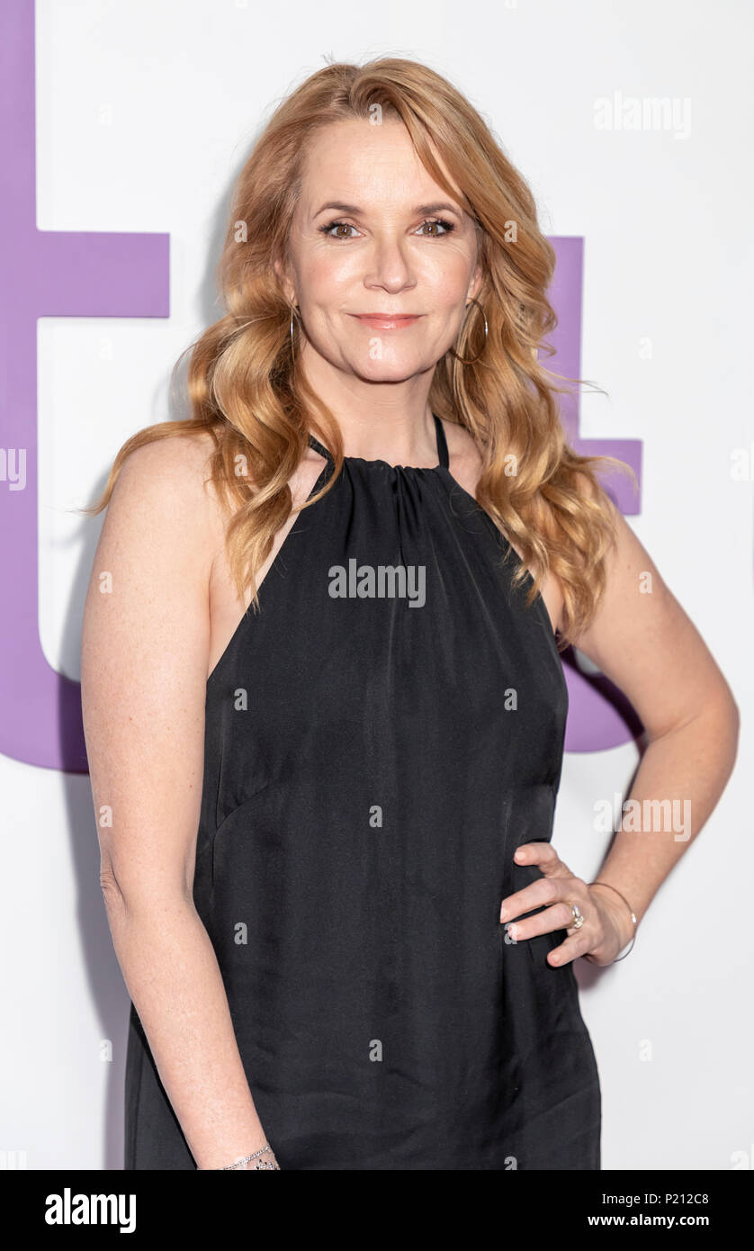 New York, NY, USA - June 12, 2018: Lea Thompson attends the New York special screening of the Netflix film 'Set It Up' at AMC Loews Lincoln Square Credit: Sam Aronov/Alamy Live News - Stock Image