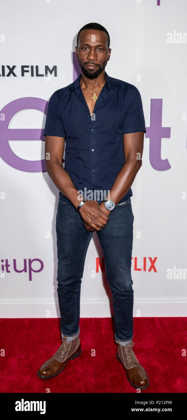 New York, NY, USA - June 12, 2018: Actor Leon Robinson attends the New York special screening of the Netflix film 'Set It Up' at AMC Loews Lincoln Square Credit: Sam Aronov/Alamy Live News - Stock Image