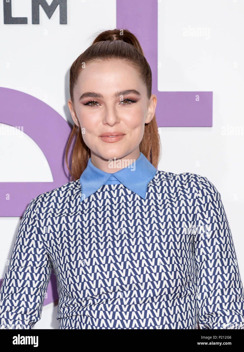 New York, NY, USA - June 12, 2018: Zoey Deutch attends the New York special screening of the Netflix film 'Set It Up' at AMC Loews Lincoln Square Credit: Sam Aronov/Alamy Live News - Stock Image