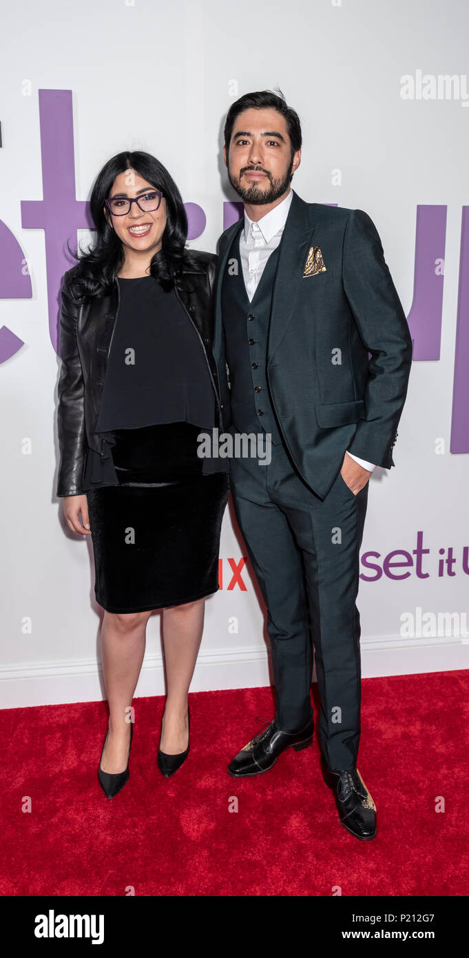 New York, NY, USA - June 12, 2018: Juliet Berman and Justin Nappi attend the New York special screening of the Netflix film 'Set It Up' at AMC Loews Lincoln Square Credit: Sam Aronov/Alamy Live News - Stock Image
