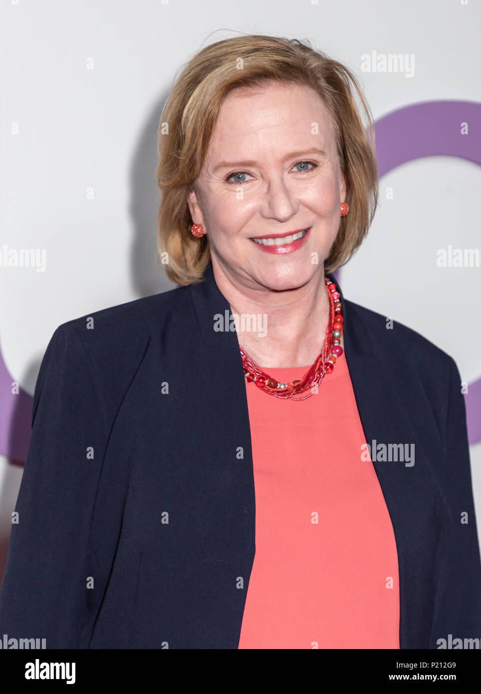 New York, NY, USA - June 12, 2018: Eve Plumb attends the New York special screening of the Netflix film 'Set It Up' at AMC Loews Lincoln Square Credit: Sam Aronov/Alamy Live News - Stock Image