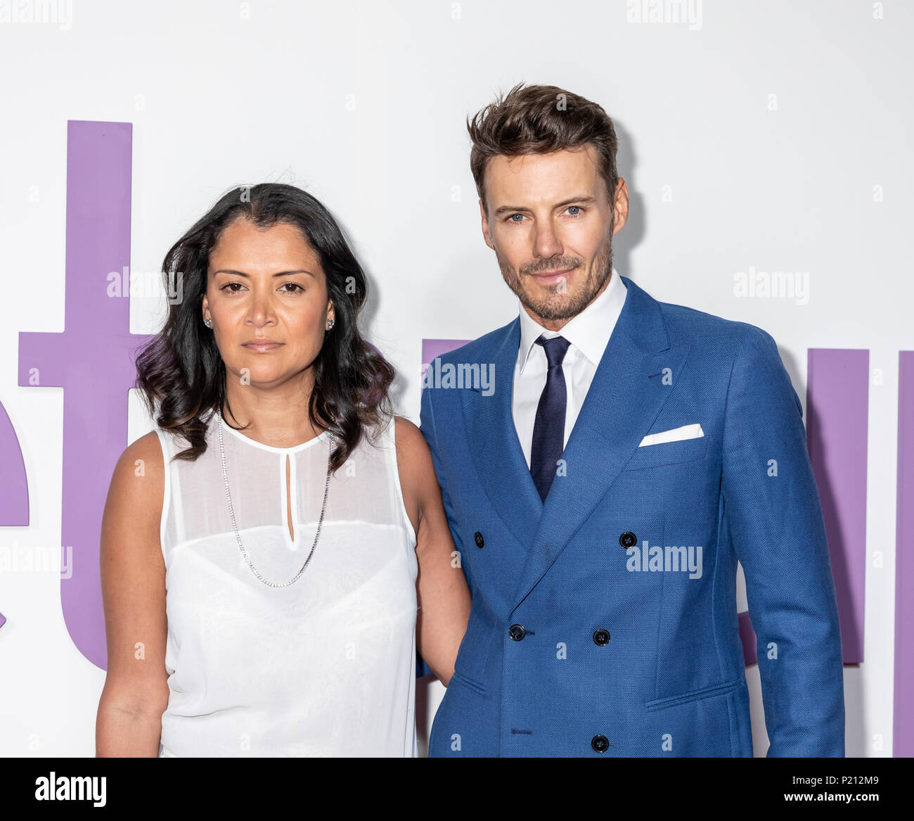 New York, NY, USA - June 12, 2018: Keytt Lundqvist and Alex Lundqvist attend the New York special screening of the Netflix film 'Set It Up' at AMC Loews Lincoln Square Credit: Sam Aronov/Alamy Live News - Stock Image