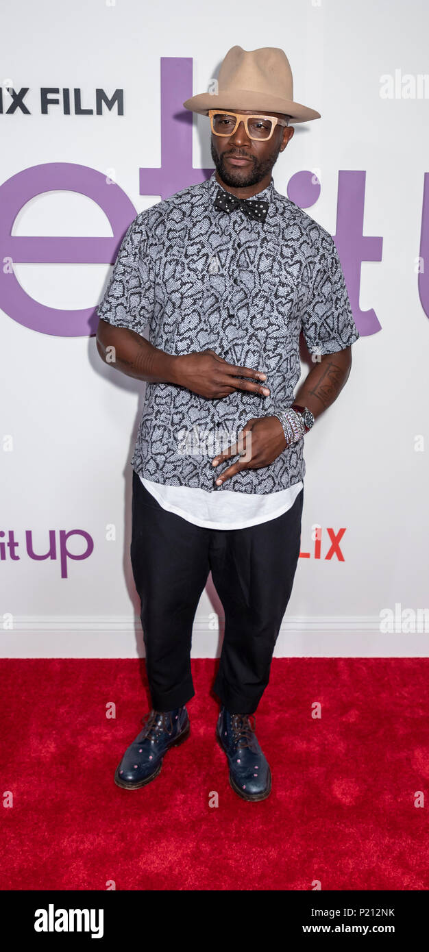 New York, NY, USA - June 12, 2018: Actor Taye Diggs attends the New York special screening of the Netflix film 'Set It Up' at AMC Loews Lincoln Square Credit: Sam Aronov/Alamy Live News - Stock Image