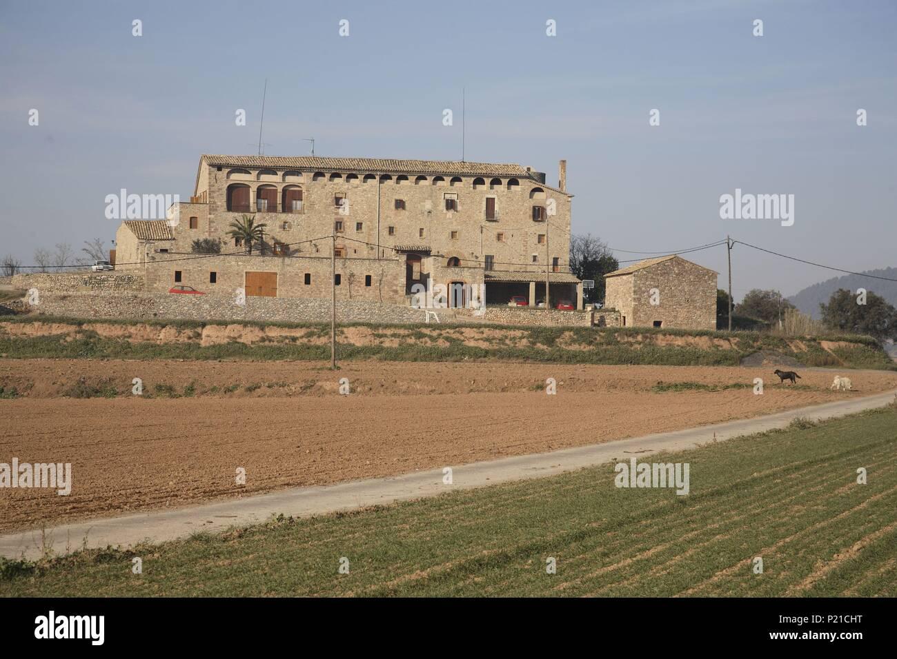 SPAIN - Catalonia - Bagés (district) - Barcelona. Artés; masía fortificada 'Mas les Torres'. - Stock Image