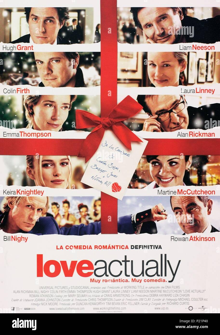 Original Film Title: LOVE ACTUALLY.  English Title: LOVE ACTUALLY.  Film Director: RICHARD CURTIS.  Year: 2003. Credit: UNIVERSAL STUDIOS / Album - Stock Image