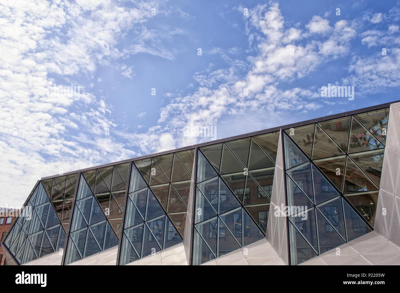 Beautiful modern architecture building. Helsingor library, Denmark. Europe - Stock Image