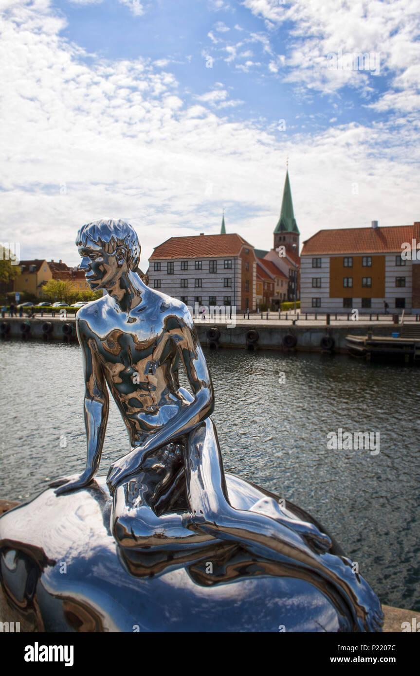 The famouse HAN sculpture in Helsingor( Elsinore), Denmark. Europe Stock Photo