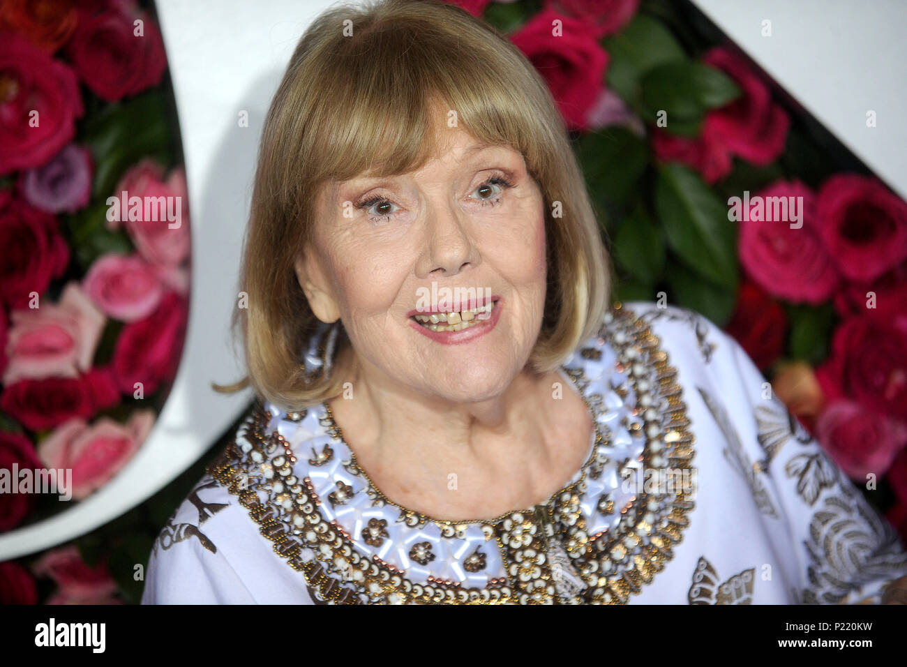 Diana Rigg attending the 72nd Annual Tony Awards 2018 at the Radio City Music Hall on June 10, 2018 in New York City. - Stock Image