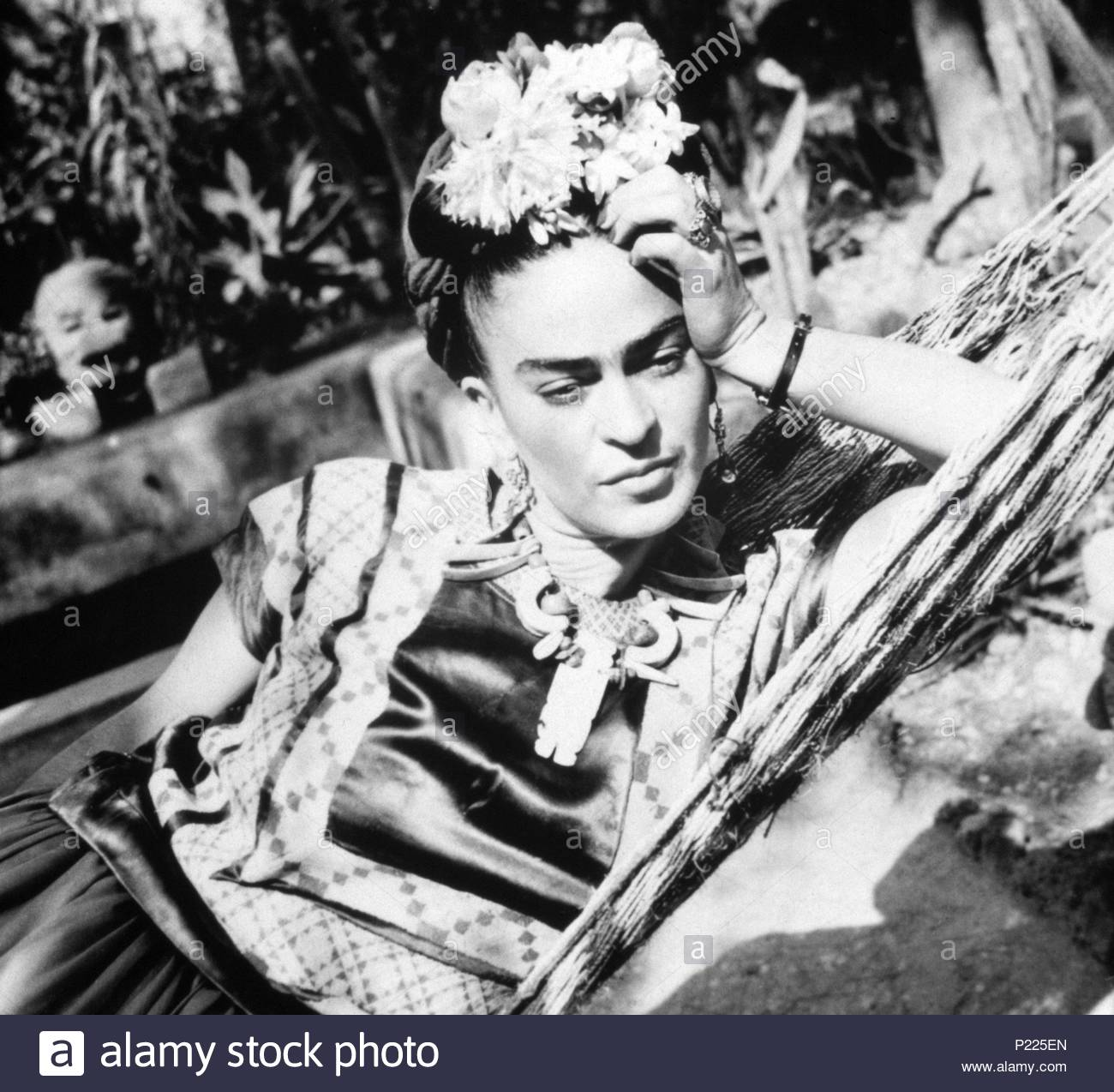 Frida Kahlo Black And White Photo