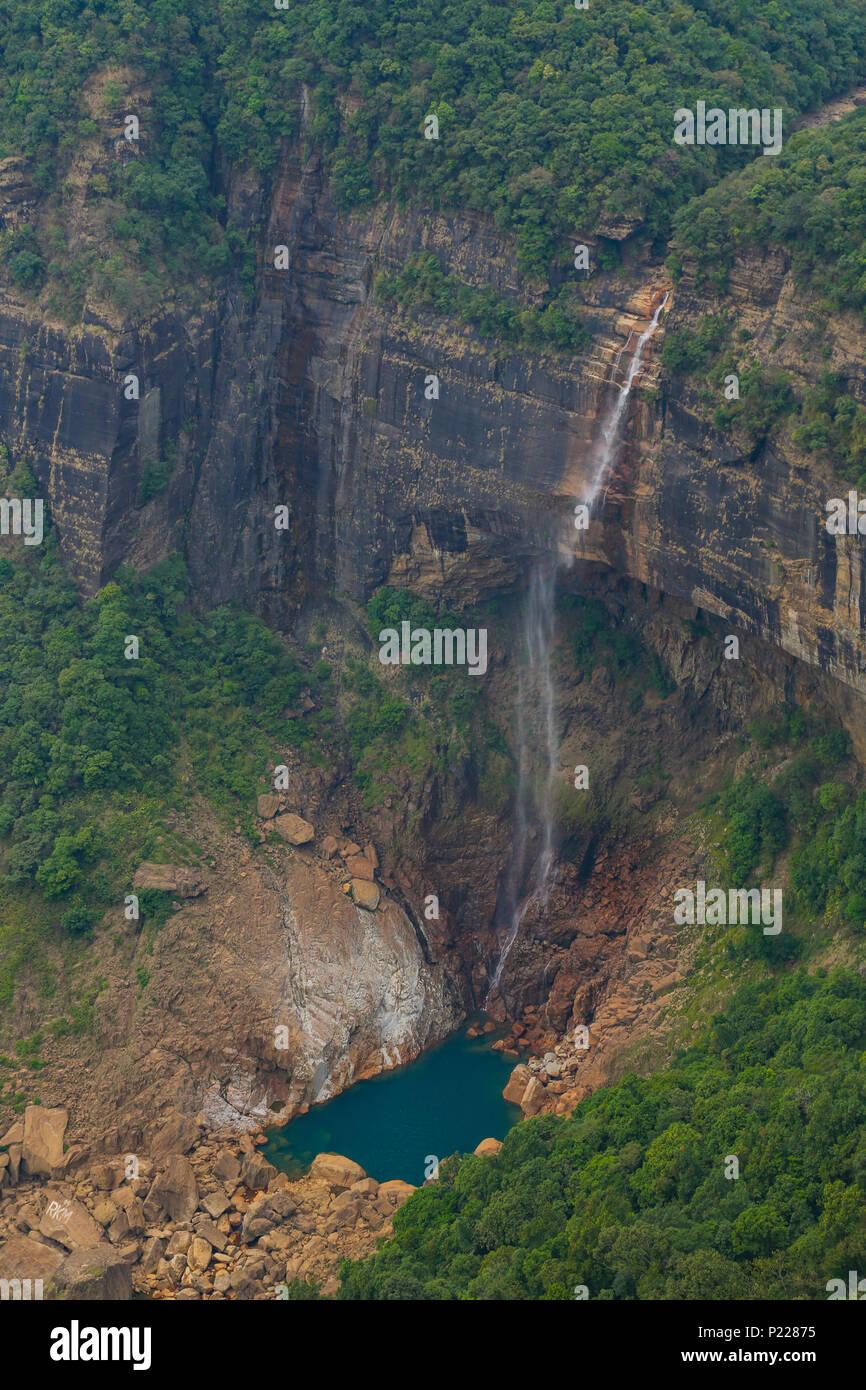 Nohkalikai Falls - Meghalaya - Stock Image