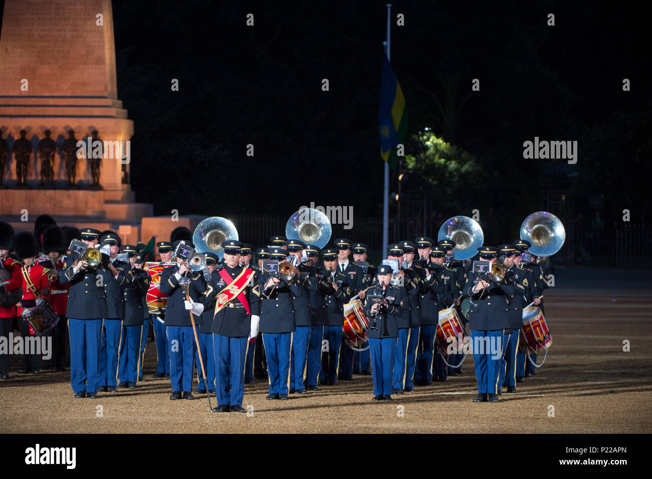 7 June 2018, London, UK. British Army Beating Retreat evening military music spectacular in Horse Guards Parade. Credit: Malcolm Park/Alamy Stock Photo