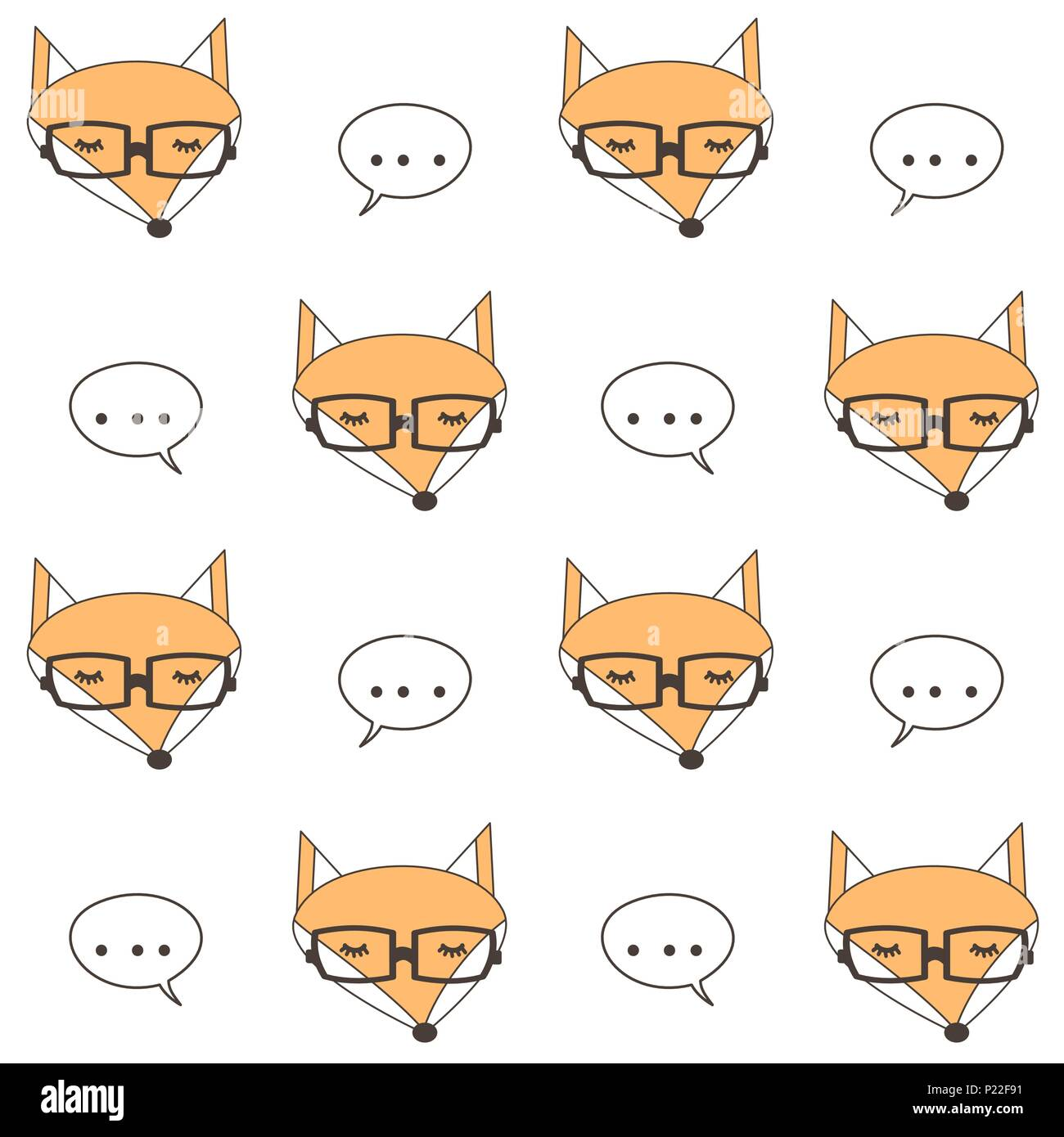 Cute cartoon fox face - photo#41