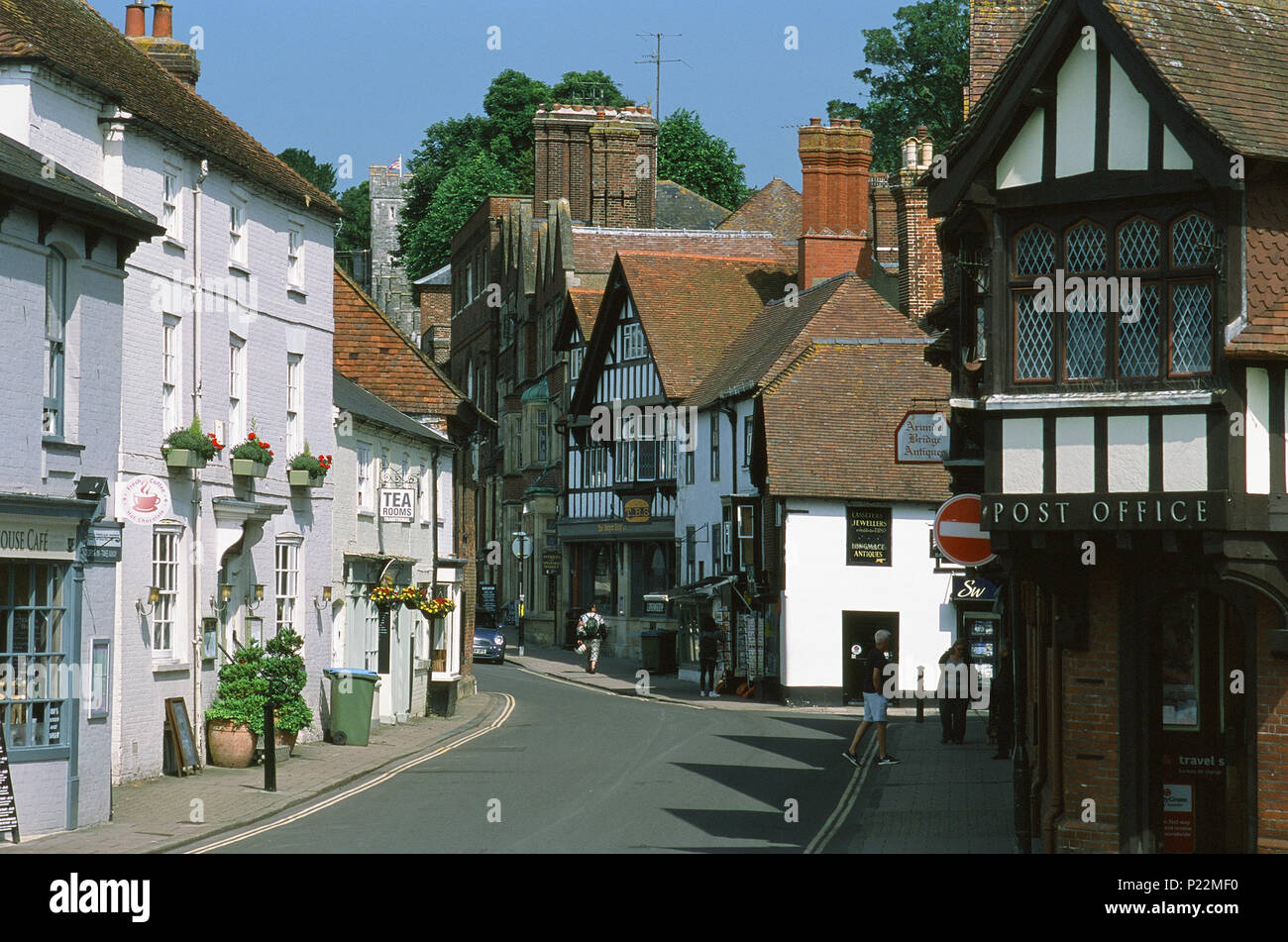 Arundel High Street, West Sussex, Southern England - Stock Image