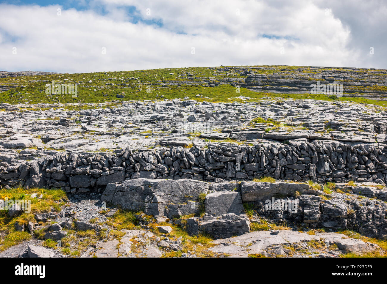 Burren National Park in County Clare in Ireland - Stock Image