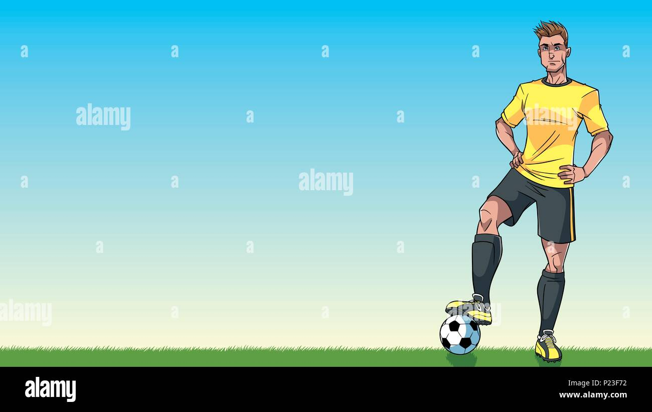 Football Player Background - Stock Vector