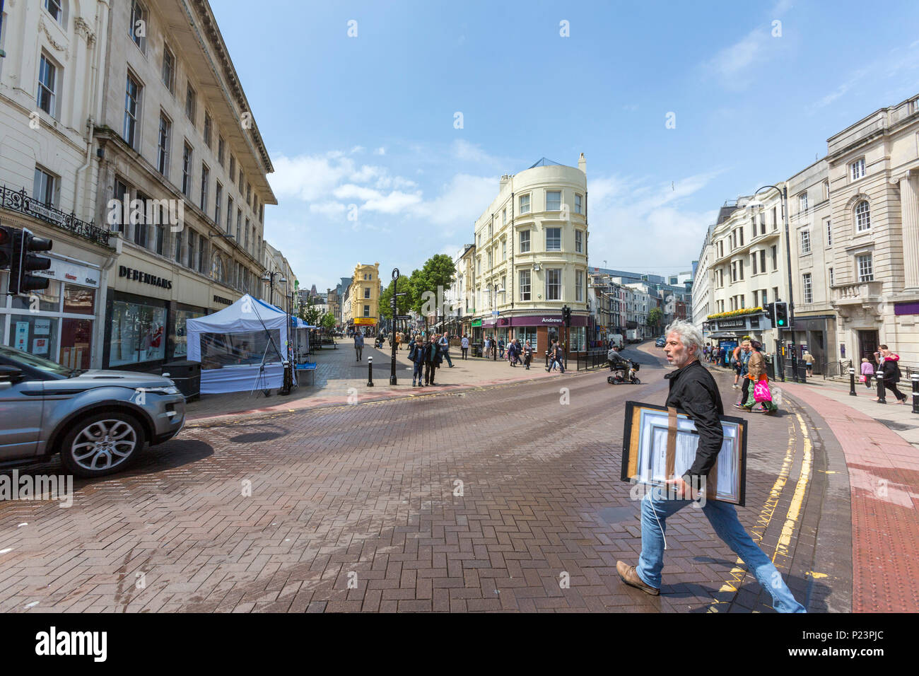 Harold Pl and Robertson St at Hastings, East Sussex, England , UK - Stock Image
