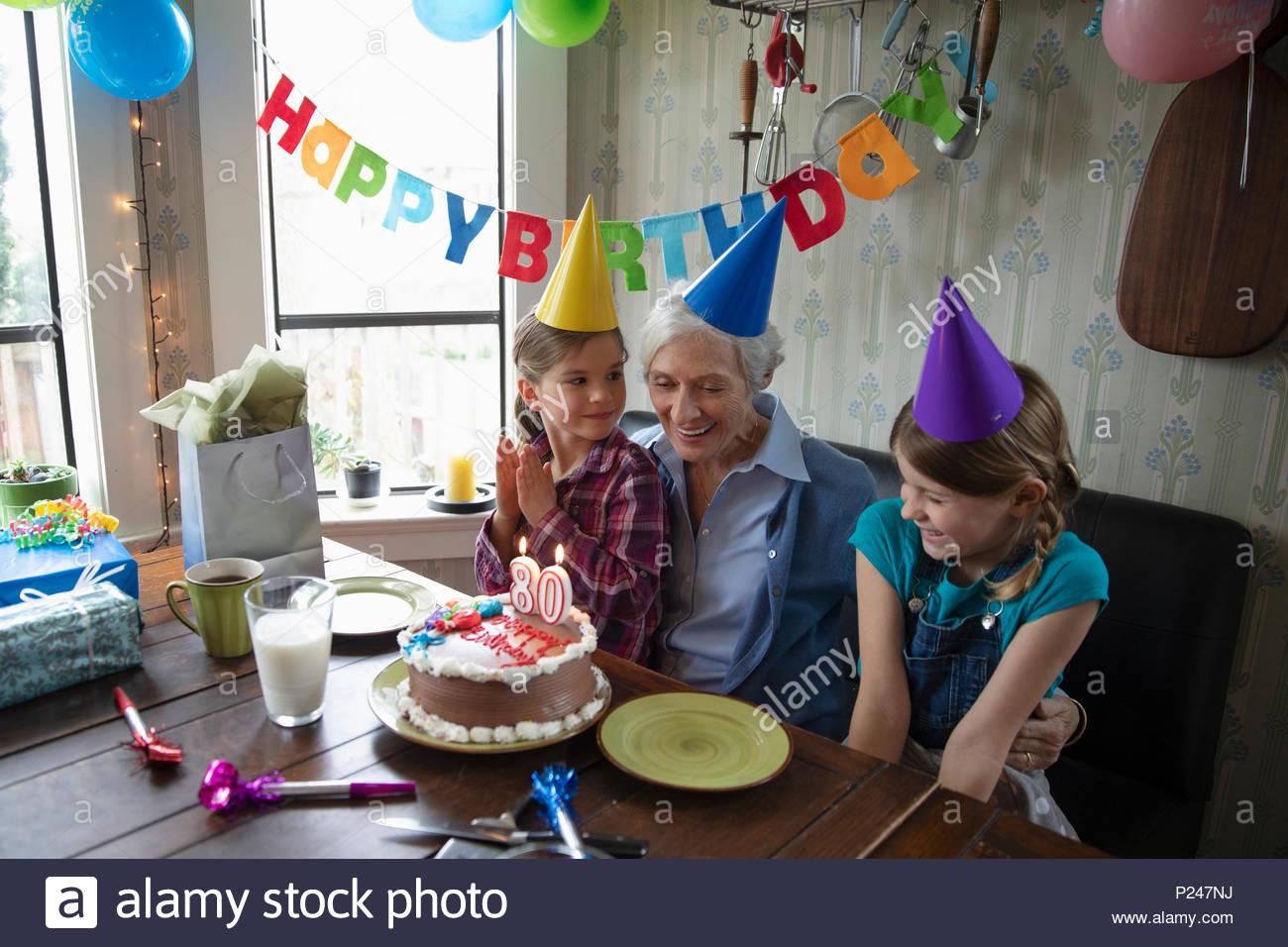 Granddaughters Celebrating Grandmothers 80th Birthday