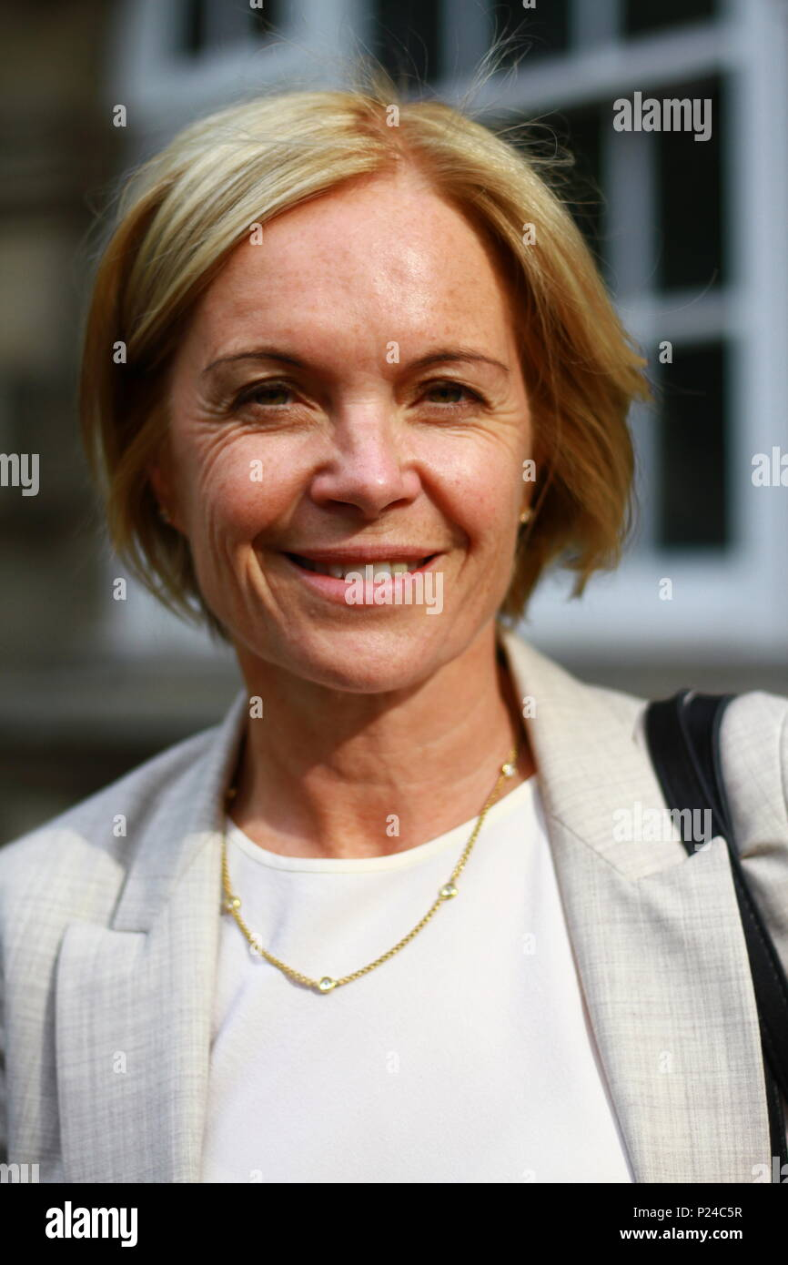 Mariella Frostrup pictured in the City of Westminster, London on 13th June 2018. Stock Photo