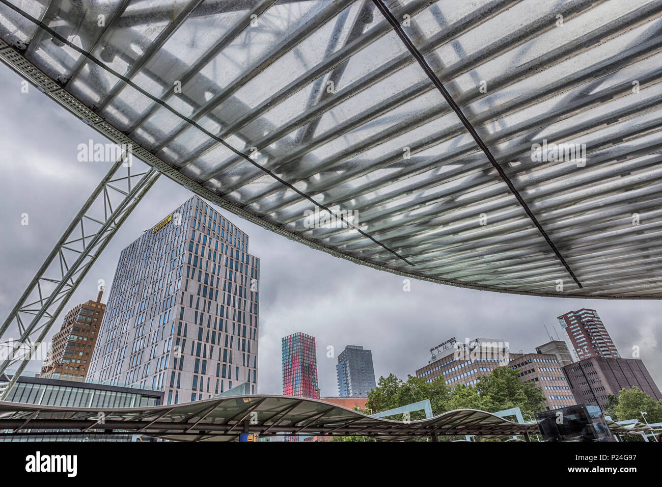 Skyline Rotterdam Stock Photo