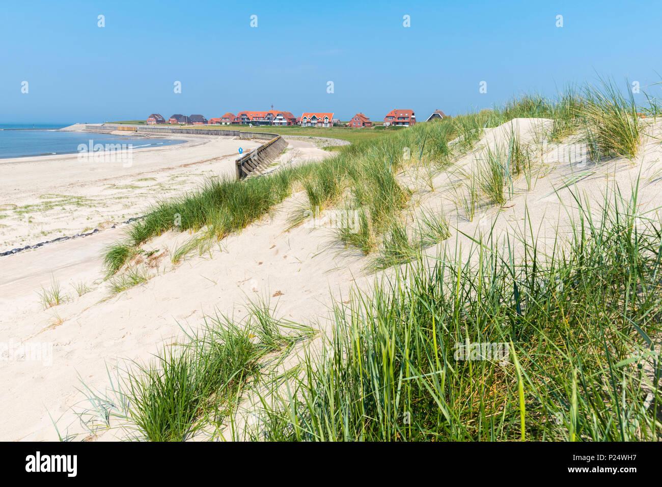 Beach on Baltrum, East Frisian island, Lower Saxony, Germany, Badestrand an der Nordsee, Baltrum,  Ostfriesland, Niedersachsen, Deutschland Stock Photo