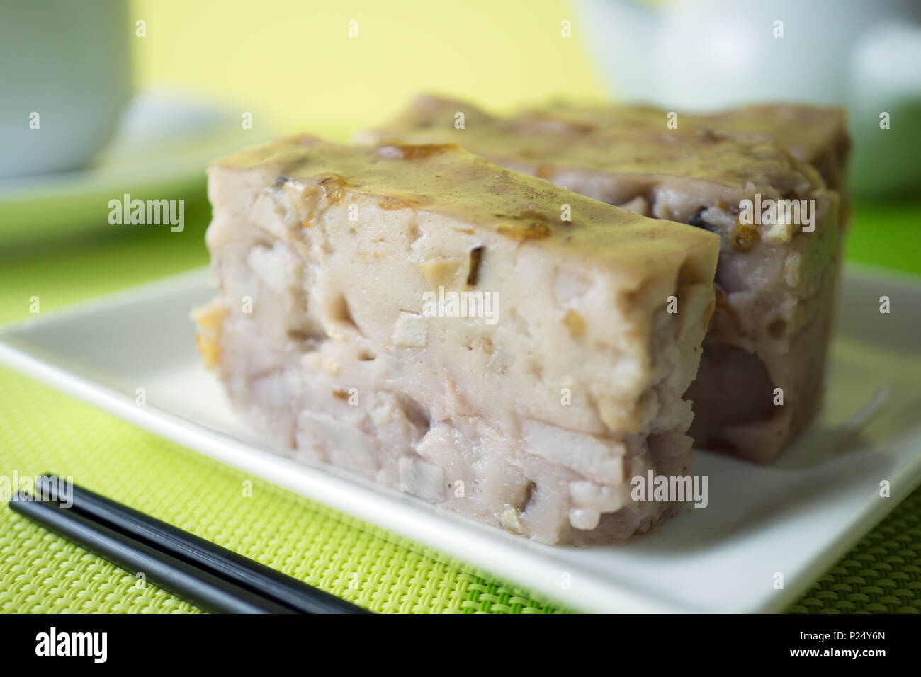 Chinese style homemade yam cake Stock Photo