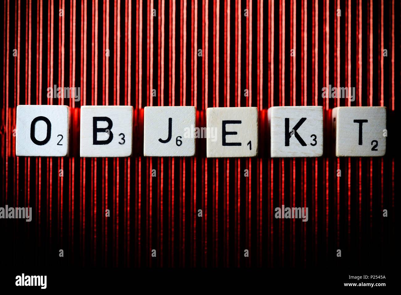 Word 'Objekt' (object) - Stock Image