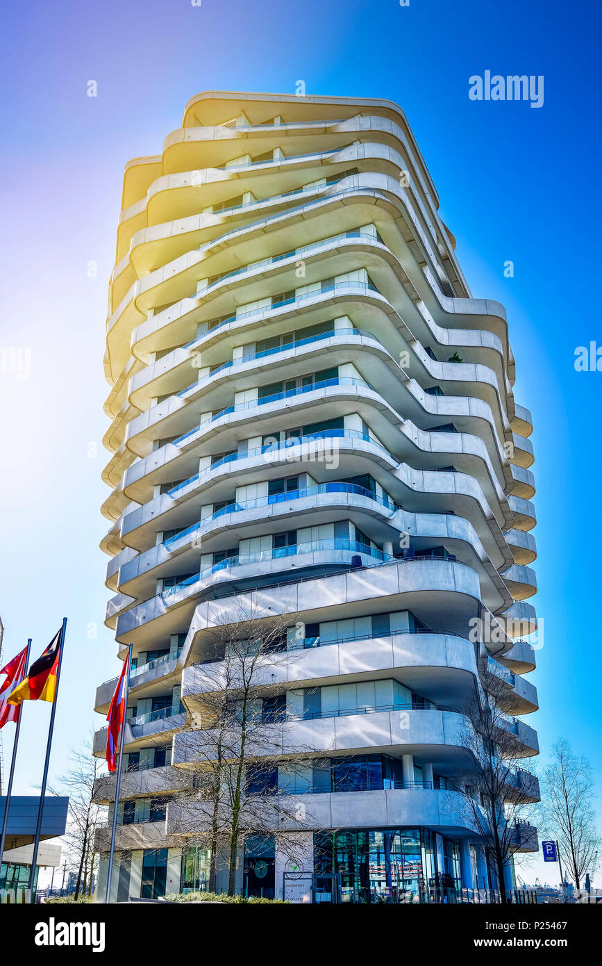 marco polo tower hamburg stock photos marco polo tower hamburg stock images alamy. Black Bedroom Furniture Sets. Home Design Ideas